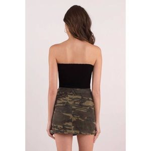 Tobi Skirts - Camo Print Mini Skirt